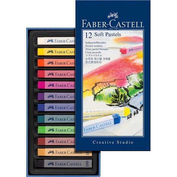 SoftPastelset Faber-Castell GoldFaber  Set 12 kritor (5F)