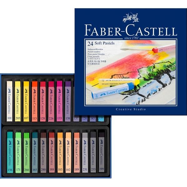 SoftPastelset Faber-Castell GoldFaber  Set 24 kritor (3F)