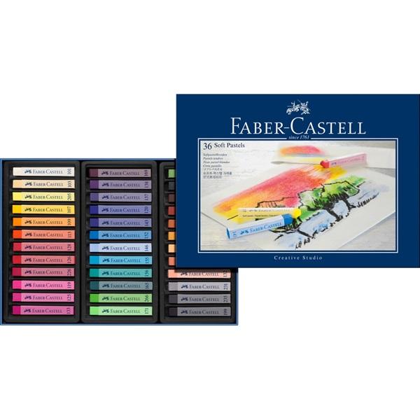SoftPastelset Faber-Castell GoldFaber  Set 36 kritor (3F)