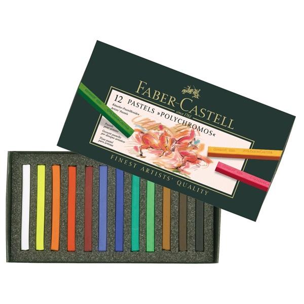 Pastellkritset Faber-Castell POLYCHROMOS Set 12 Kritor 9280 (3F)