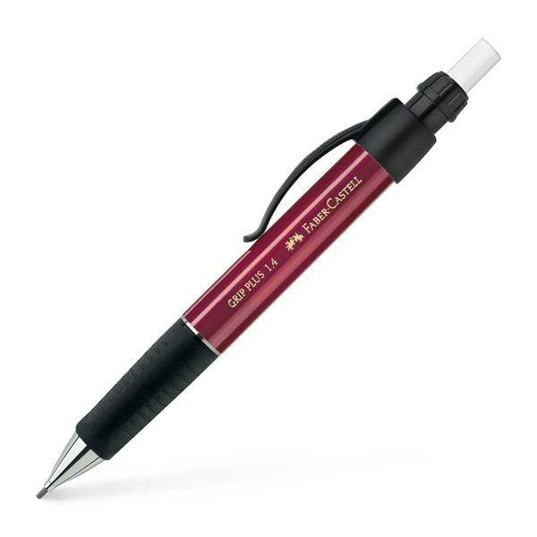 Stiftpenna Faber-Castell Mechanical pencil grip plus 1.4mm red metallic