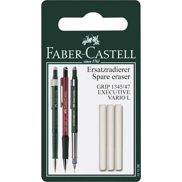 Suddigum Faber-Castell Spare eraser for 1345/1347- 3-p.