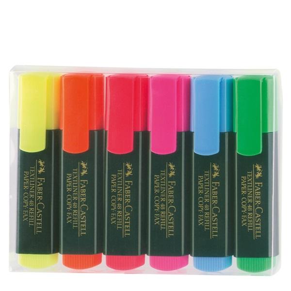 Överstrykningspennset Faber-Castell 6 färger