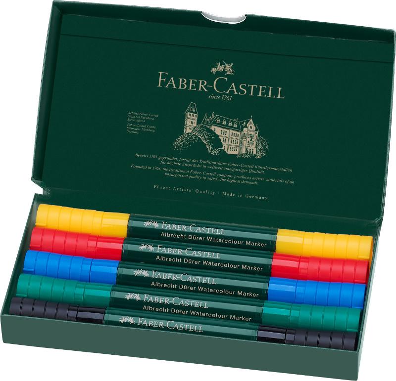 Akvarellmarkerset Faber-Castell Albrecht Dürer 5 pennor (5F)