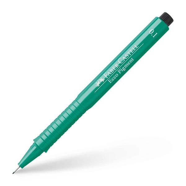 Ritpenna Faber-Castell Ecco Pigment GREEN 0,1mm (10F)