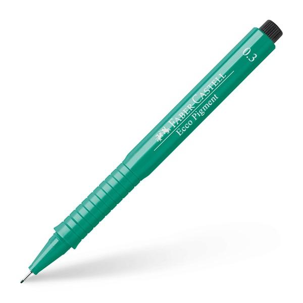 Ritpenna Faber-Castell Ecco Pigment GREEN 0,3mm (10F)