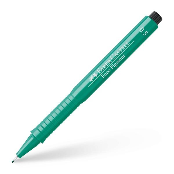 Ritpenna Faber-Castell Ecco Pigment GREEN 0,5mm (10F)