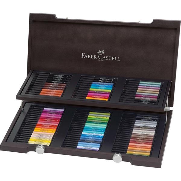 Ritpenna Faber-Castell PITT Artist x 90pennor  Trälåda