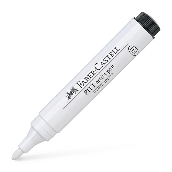 Ritpenna Faber-Castell PITT Artist pen Bullet nib 2,5mm White 101 (4F)