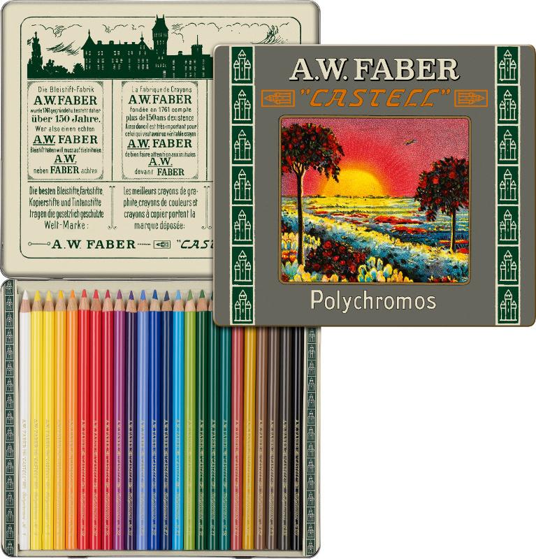 Färgpennset Faber-Castell Polychromos 24 set 111th version