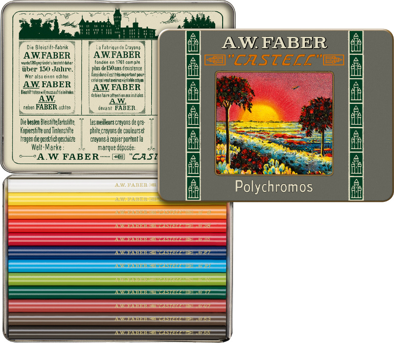 Färgpennset Faber-Castell Polychromos 12 set Replika 111th version