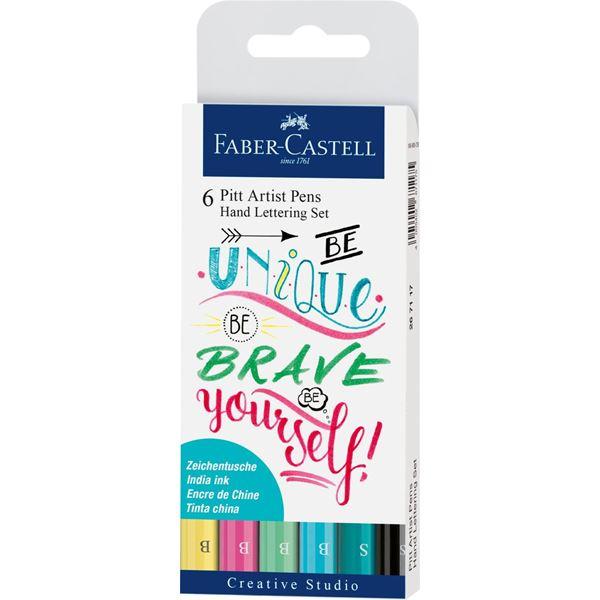 Ritpenna Faber-Castell PITT Artist Handlettering 6 sorterade pastell