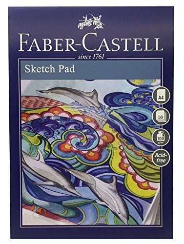 Skissblock Faber-Castell A4 Sketch Pad 100gr 50 ark Limmat (5F)