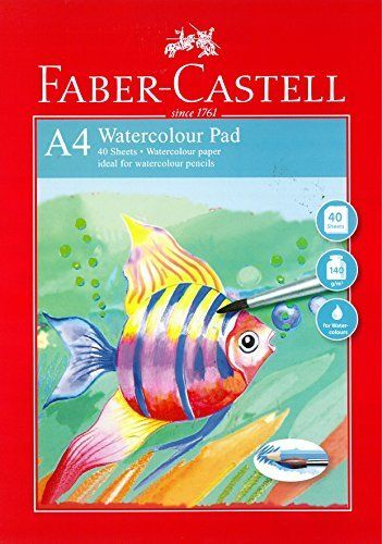 Akvarellblock Faber-Castell Red Range A4 Watercolour Pad 140gr 40 ark (5F)
