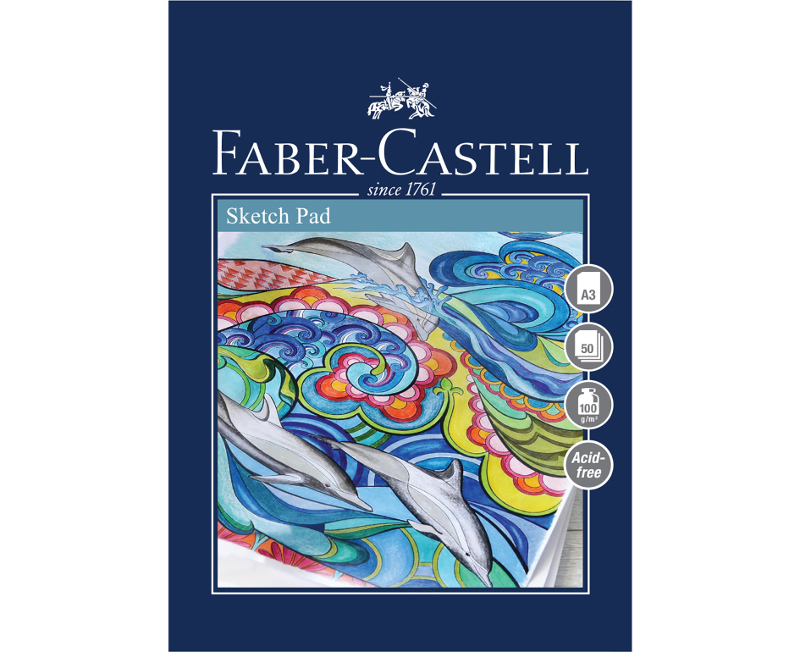 Skissblock Faber-Castell A3 Sketch Pad 100gr 50 ark Limmat (5F)