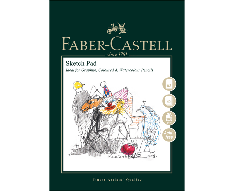 Ritblock Faber-Castell A3 Sketch Pad 160gr 40 ark Limmat (5F)