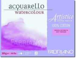 Akvarellblock Fabriano Artistico E-White 300 g GS 12,5x18 25ark (6F) Utgår