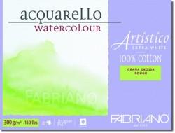 Akvarellblock Fabriano Artistico E-White 300 g GG 12,5x18 25ark (6F) Utgår
