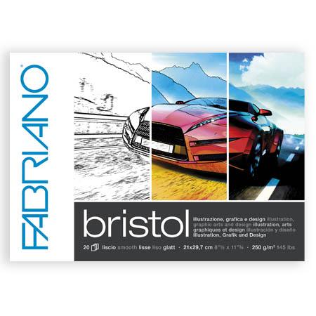 Ritblock Fabriano Bristol A4 20ark 250g (5F) Utgår