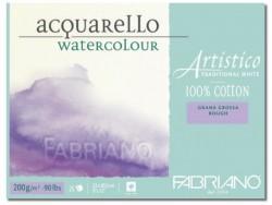 Akvarellblock Fabriano Artistico 200 g GG 12,5x18 30ark (6F) Utgår