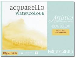Akvarellblock Fabriano Artistico 300 g GS 12,5x18 25ark (6F) Utgår