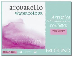 Akvarellblock Fabriano Artistico 300 g GF 30,5x45,5 20ark (6F) Utgår