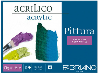 Akrylmålningsblock Pittura 400g 30x40cm (6F) Utgår
