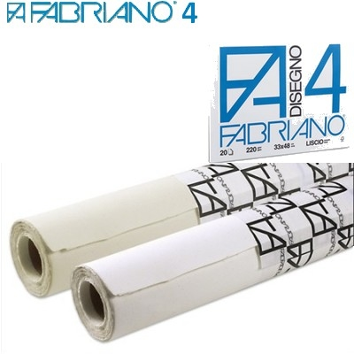 Ritpapper Fabriano 4 L (Smooth) Rulle 220g 1,5x10m
