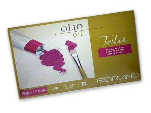 Oljemålningsblock Fabriano Tela 300g 30x40cm (6F)