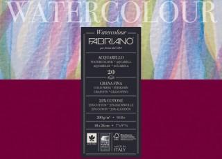 Akvarellblock Fabriano Watercolour 200g 20ark 18x24cm (5F)