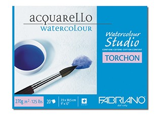 Akvarellblock Fabriano W/C Studio Torchon 270g 20ark 18x24cm (6F) #