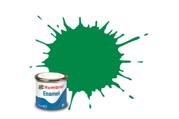 Hobbyfärg Humbrol Enamel Gloss 14ml emerald  2 (6F)