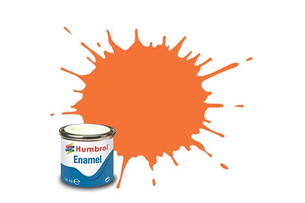 Hobbyfärg Humbrol Enamel Gloss 14ml orange  18 (6F)