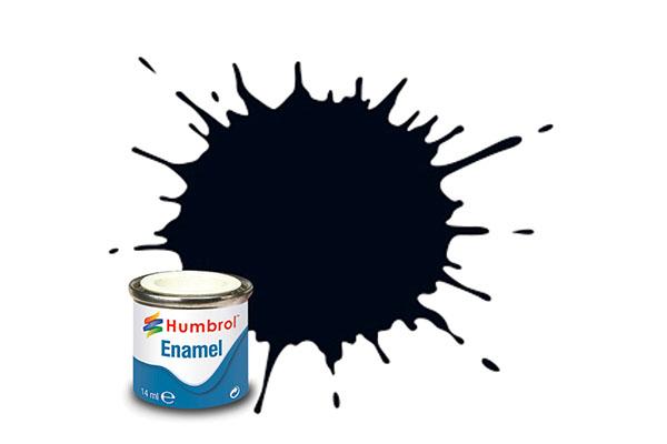Hobbyfärg Humbrol Enamel Gloss 14ml t black  21 (6F)
