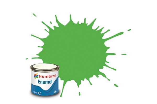 Hobbyfärg Humbrol Enamel Gloss 14ml lime  38 (6F)