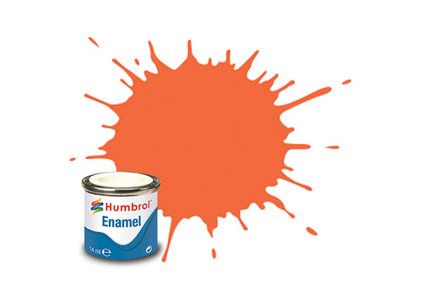 Hobbyfärg Humbrol Enamel Matt  14ml mid orange lining  82 (6F)