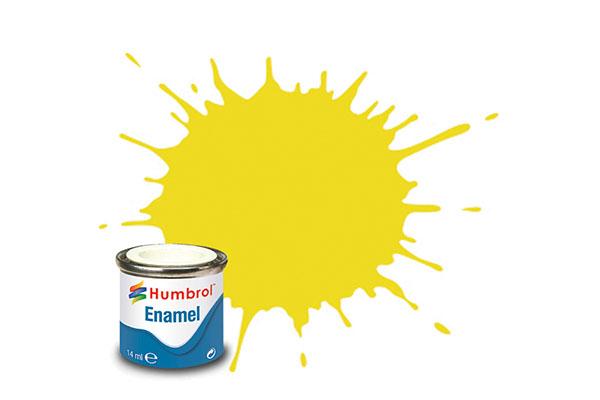 Hobbyfärg Humbrol Enamel Matt  14ml lemon  99 (6F)