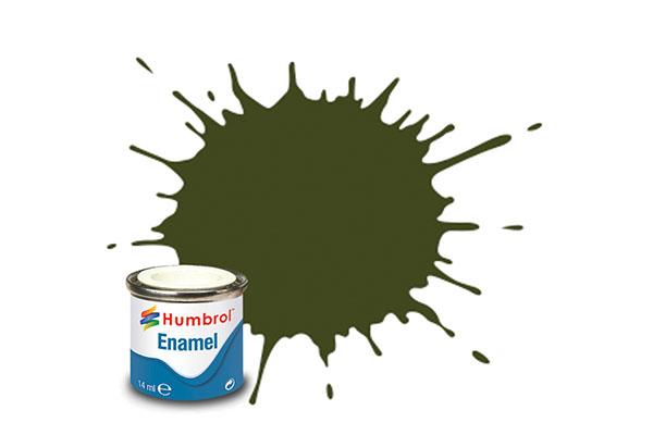 Hobbyfärg Humbrol Enamel Matt  14ml olive drab  155 (6F)