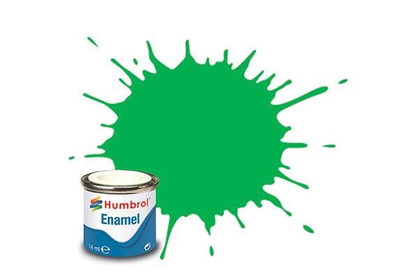 Hobbyfärg Humbrol Enamel Gloss 14ml fluorescent signal green  208 (6F)