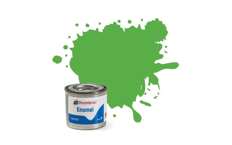 Hobbyfärg Humbrol Enamel Matt  14ml bright green  37 (6F)