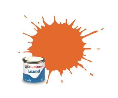 Hobbyfärg Humbrol Enamel Matt  14ml orange  46 (6F)