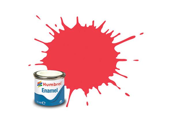 Hobbyfärg Humbrol Enamel Gloss 14ml arrow red  238 (6F)