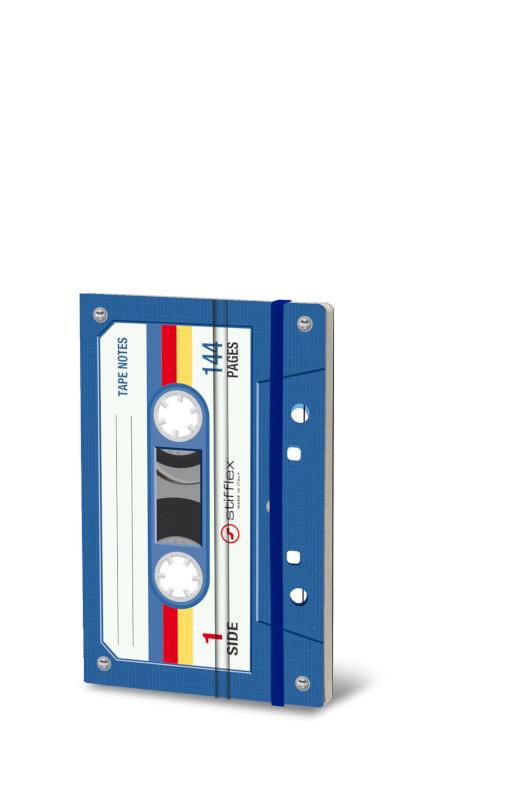Notebook Musicassette blå (6F)