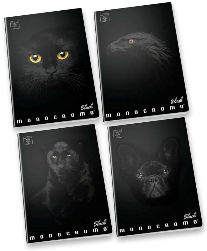 Skrivhäfte Pigna  A4L Monocromo Black (20F)