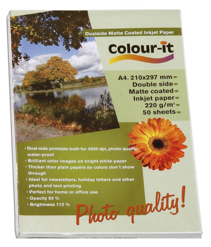 Inkjet/Laserpapper *Colour-it Dubbelsidigt Matt Coated Inkjet papper