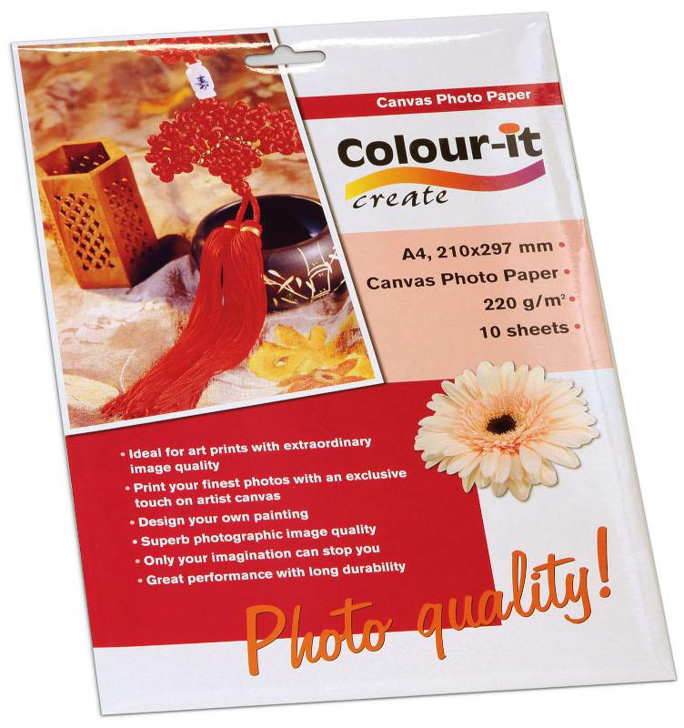 Inkjet/Laserpapper *Colour-it Canvas Fotopapper A4, 220 gr
