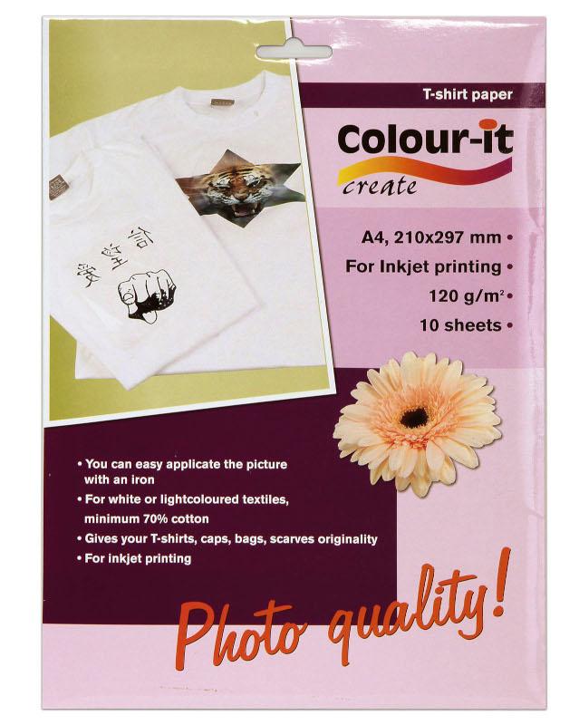 Inkjet/Laserpapper *Colour-it T-shirt papper A4, 120 gr