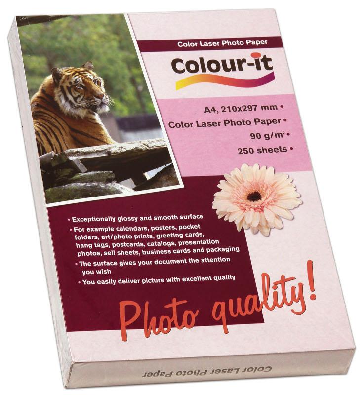 Inkjet/Laserpapper *Colour-it Color Laser Fotopapper A4, 90 gr
