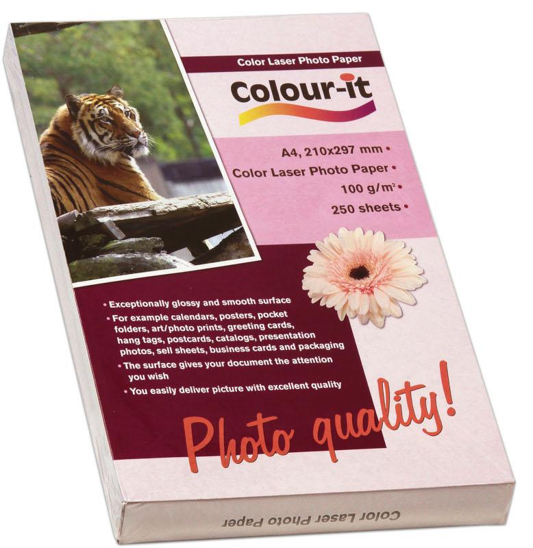 Inkjet/Laserpapper *Colour-it Color Laser Fotopapper A4, 100 gr