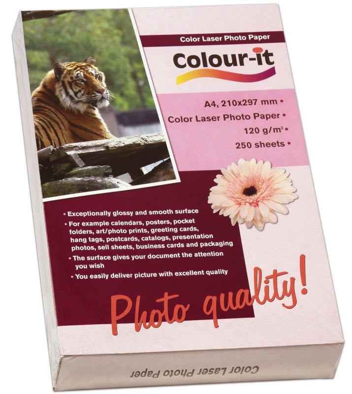 Inkjet/Laserpapper *Colour-it Color Laser Fotopapper A4, 120 gr